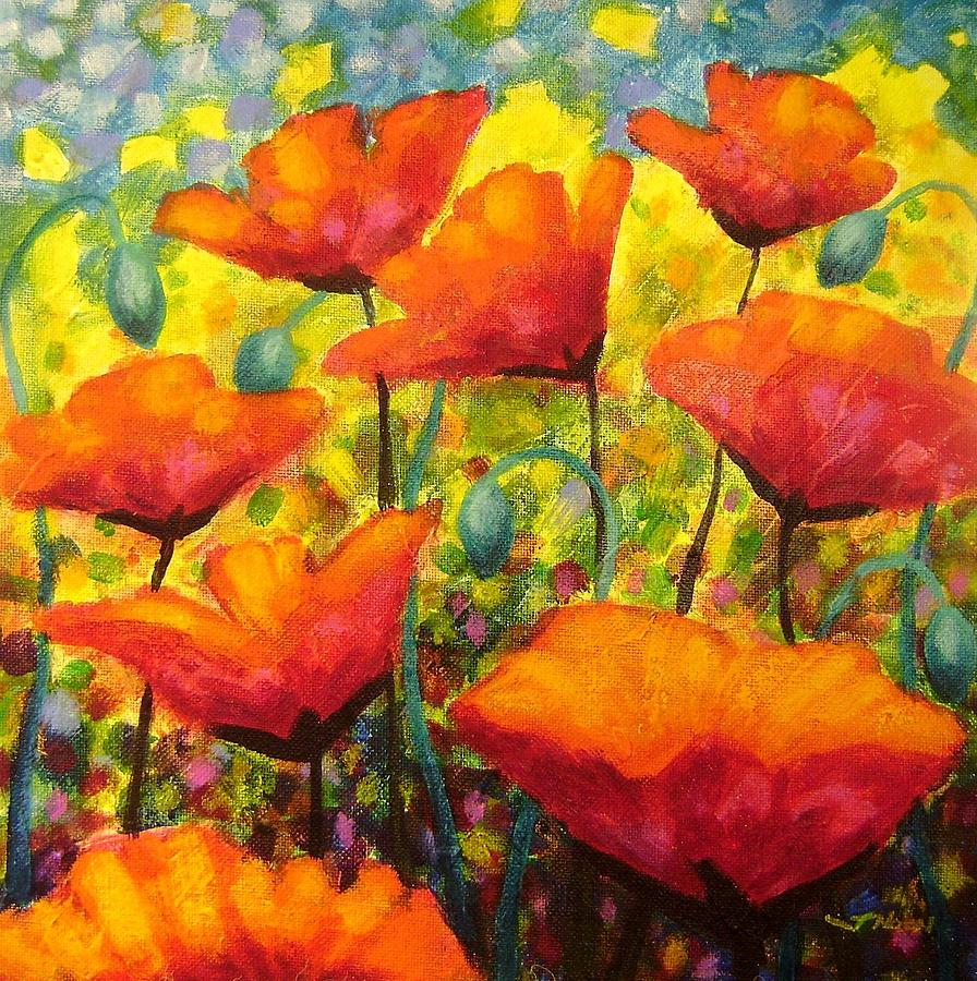 Poppy corner by john nolan for Art print for sale