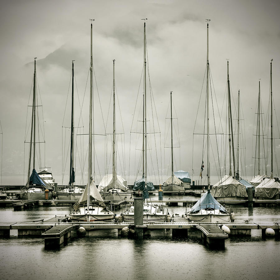 Port On A Rainy Day Photograph