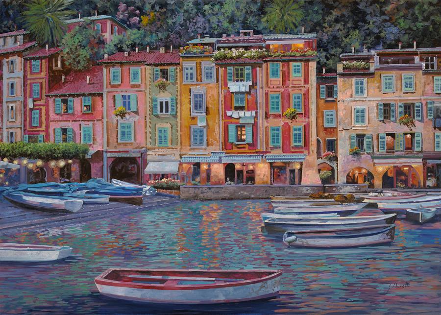 Portofino Al Crepuscolo Painting