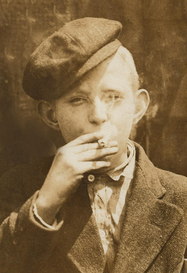 Portrait Of A Boy Smoking, Original Photograph