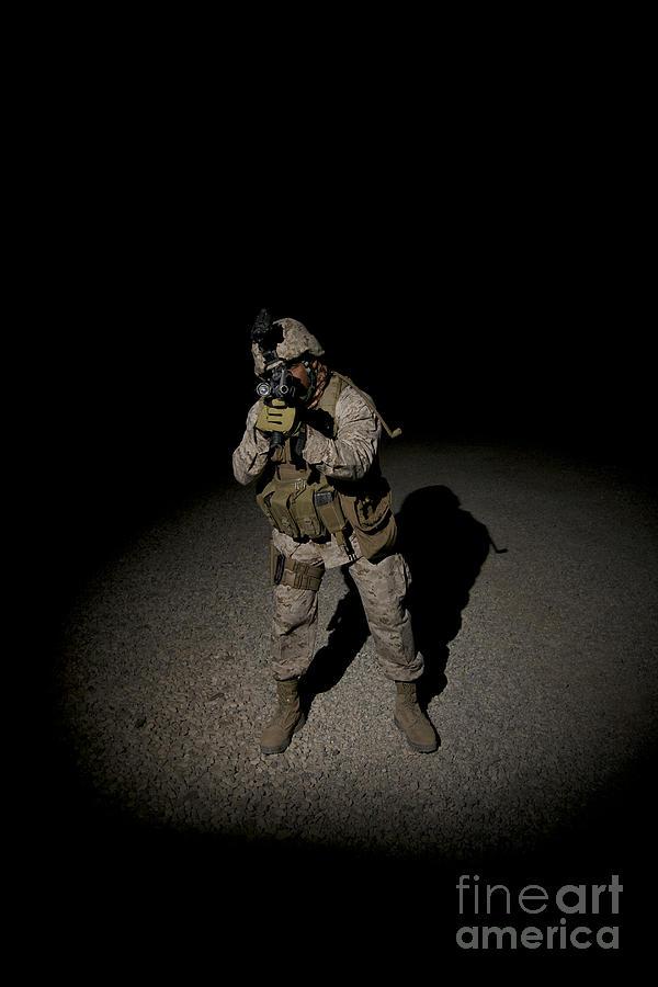 Portrait Of A U.s. Marine Photograph