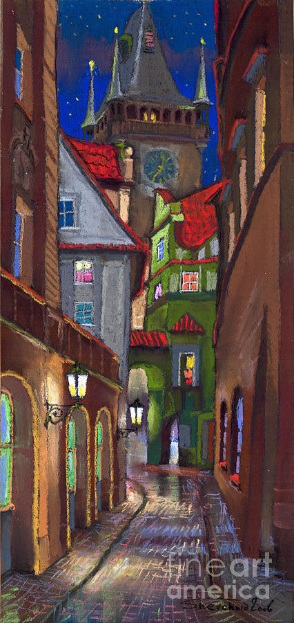Prague Old Street  Painting