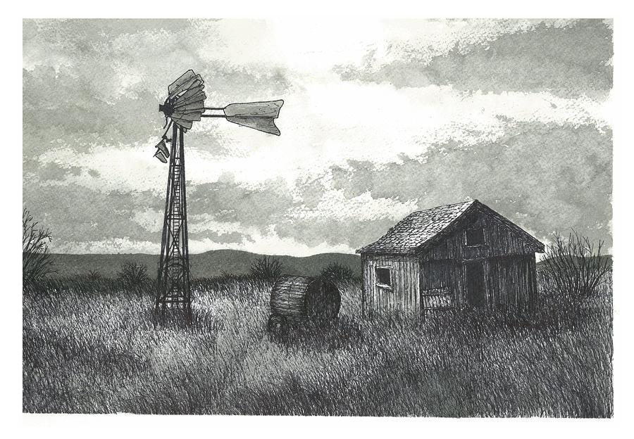 Prairie Farm Painting