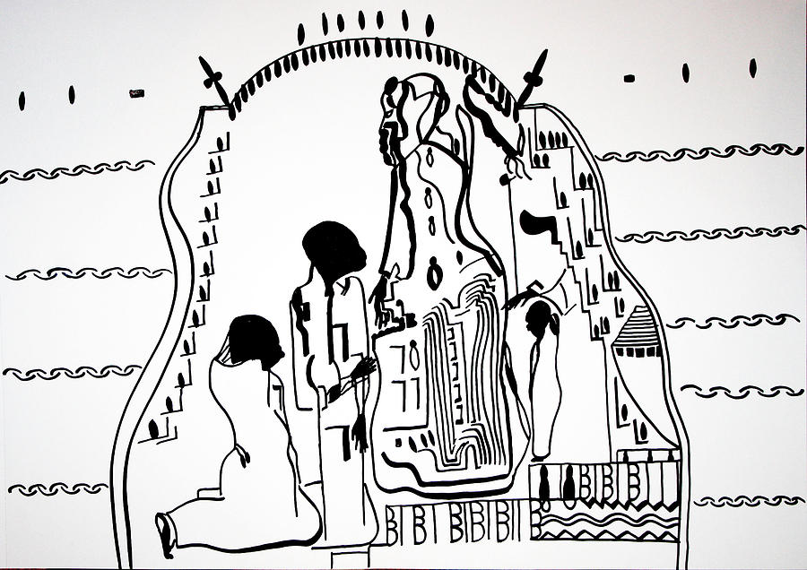 Presentation Of Jesus In The Temple Drawing