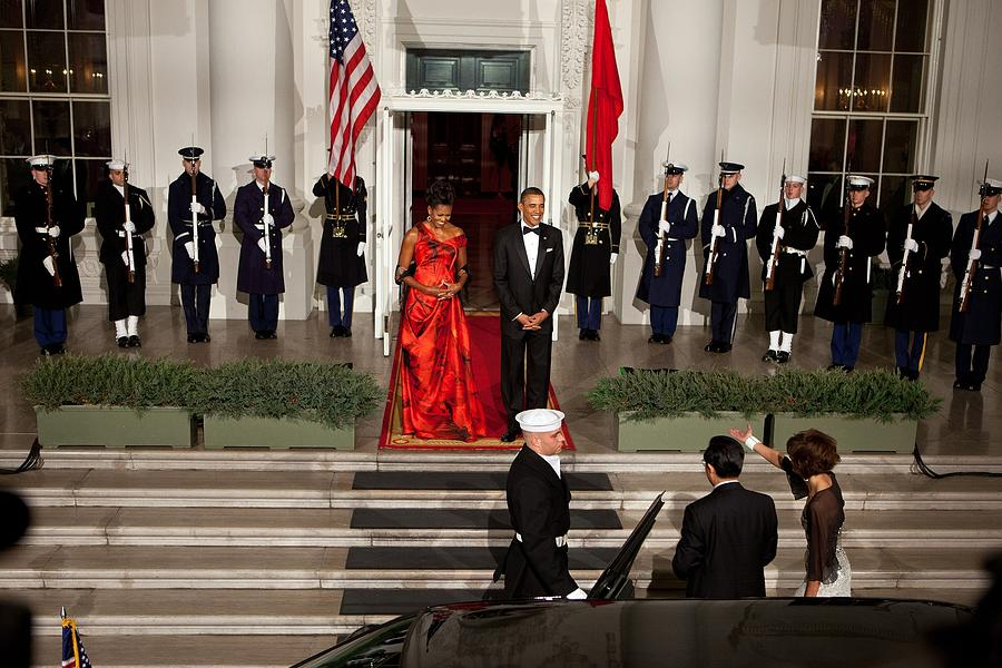 President And Michelle Obama Welcome Photograph  - President And Michelle Obama Welcome Fine Art Print