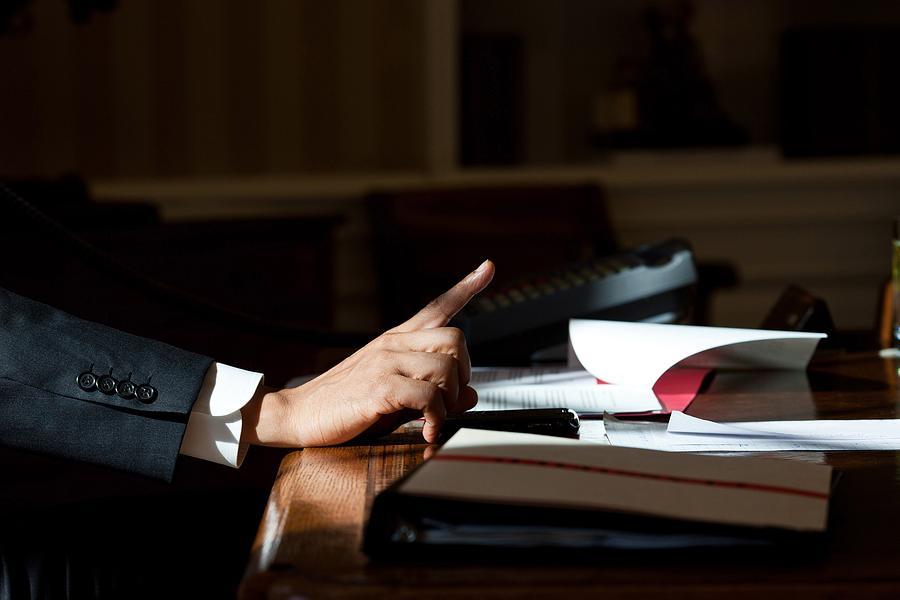 President Barack Obama Gestures Photograph