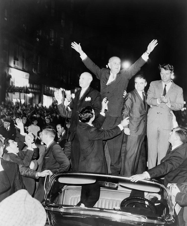 President Lyndon Johnson And Robert Photograph