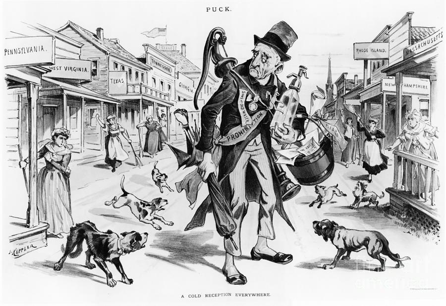 Prohibition Era Cartoon Photograph By Photo Researchers