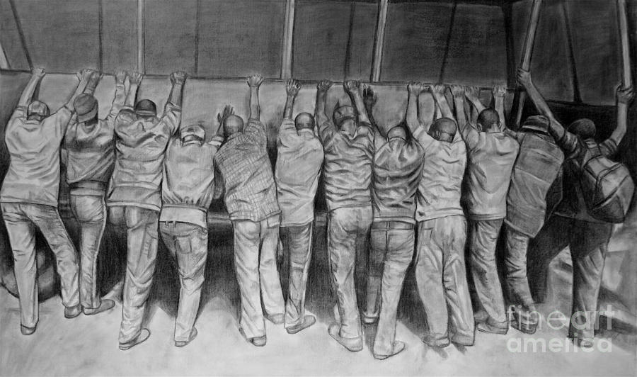 Protest Drawing  - Protest Fine Art Print