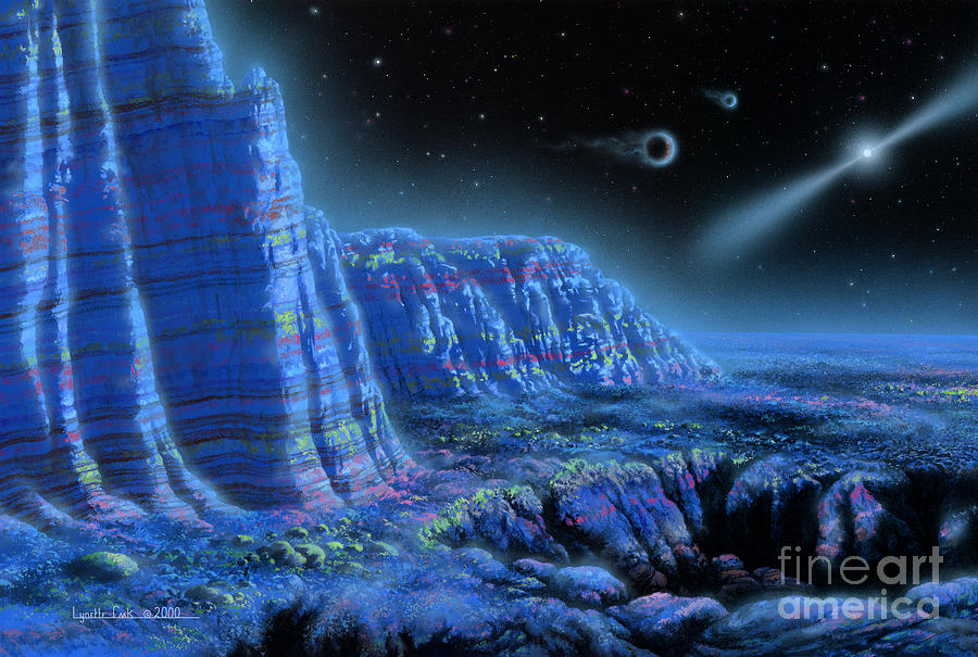 Pulsar Planets II Painting