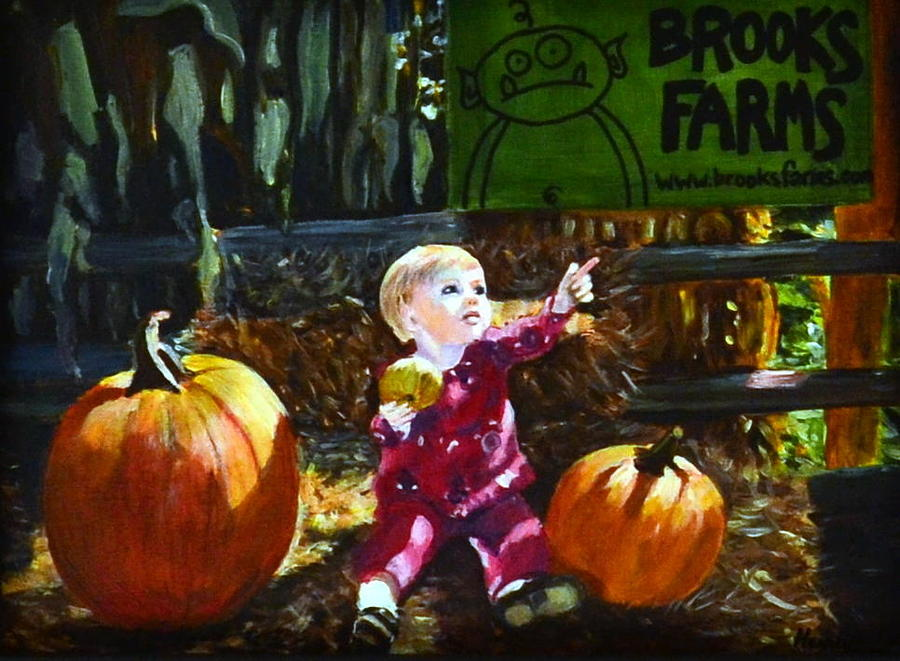 Pumpkin patch painting by henny dagenais for Henny and paint