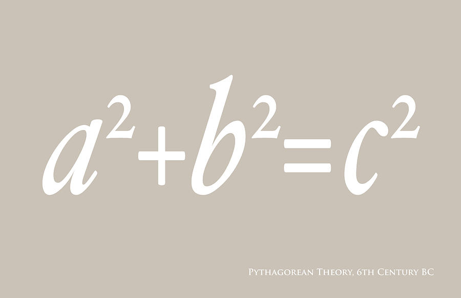 Pythagoras Maths Equation Digital Art  - Pythagoras Maths Equation Fine Art Print