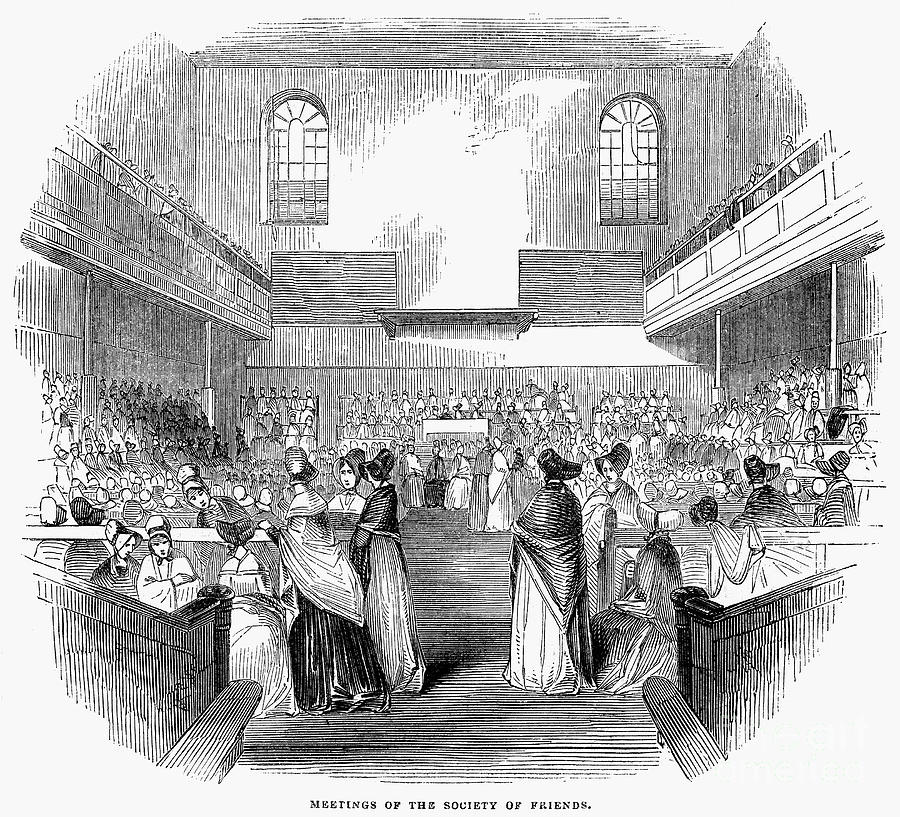 Quaker Meeting, 1843 Photograph  - Quaker Meeting, 1843 Fine Art Print