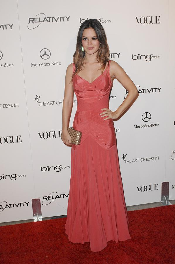 Rachel Bilson Wearing A Zac Posen Dress Photograph  - Rachel Bilson Wearing A Zac Posen Dress Fine Art Print