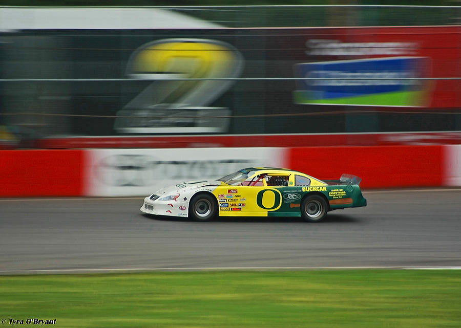 Racing Oregon Ducks Nascar Photograph  - Racing Oregon Ducks Nascar Fine Art Print