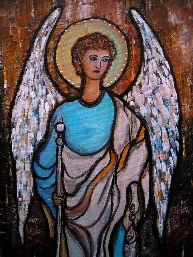 Raphael Painting - Raphael Archangel by Pristine Cartera Turkus