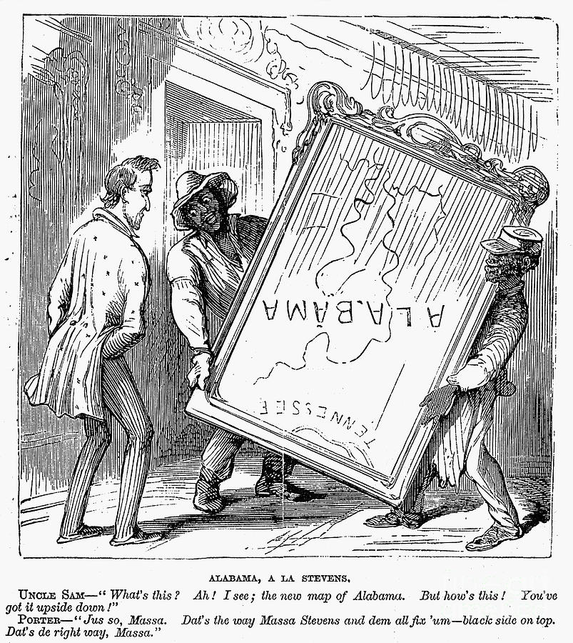 1868 Photograph - Reconstruction Cartoon by Granger