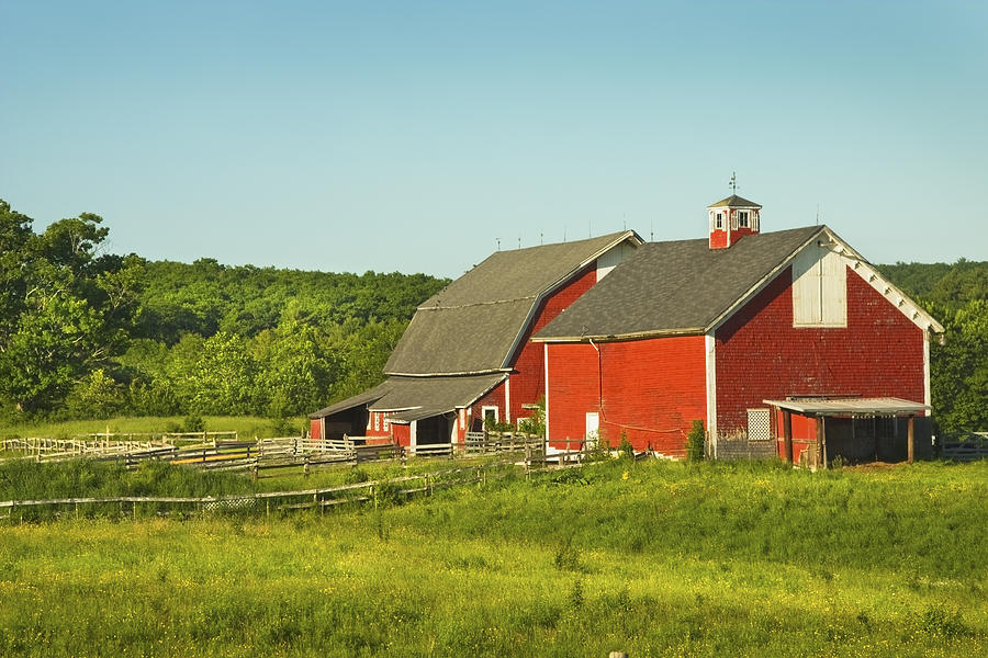 1 Red Barn And Fence On Farm In Maine Keith Webber Ye