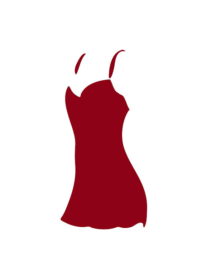 Red Dress Drawing  - Red Dress Fine Art Print