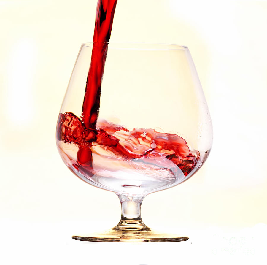 Red Wine Photograph  - Red Wine Fine Art Print