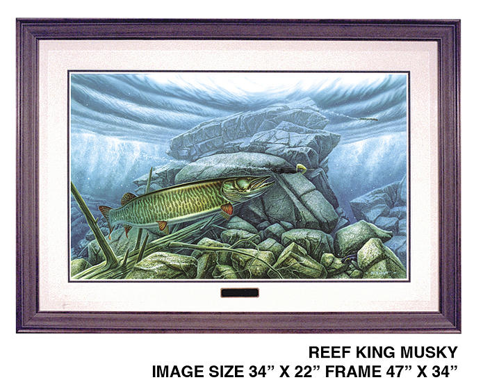 Reef King Musky Painting