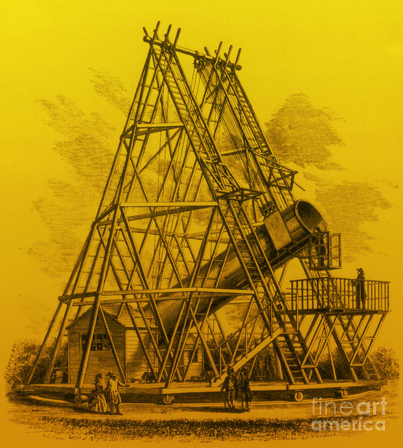 Reflecting Telescope, 1789 Photograph  - Reflecting Telescope, 1789 Fine Art Print