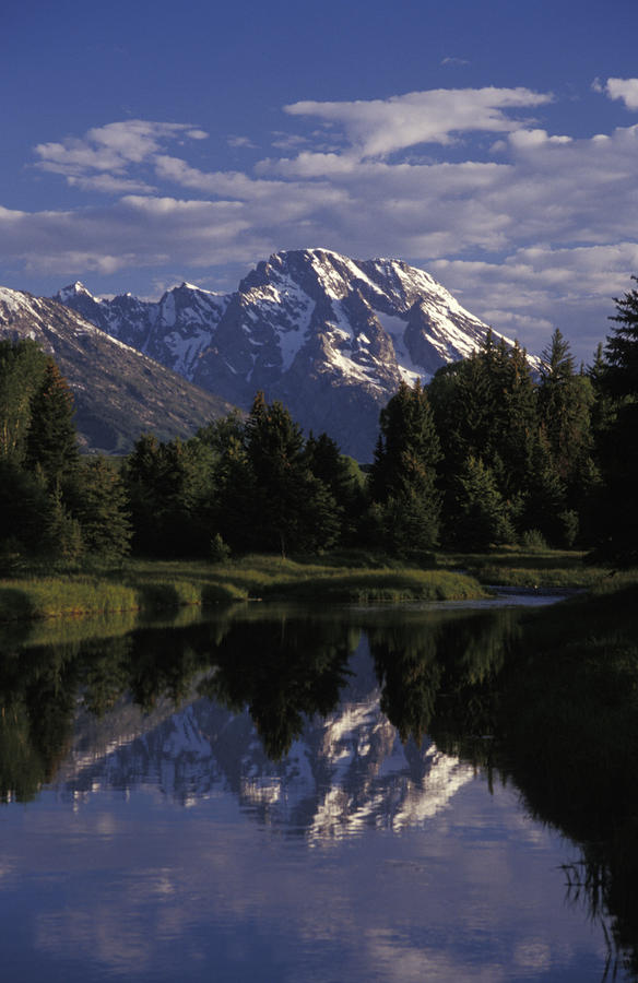Reflection Of The Teton Mountans Photograph