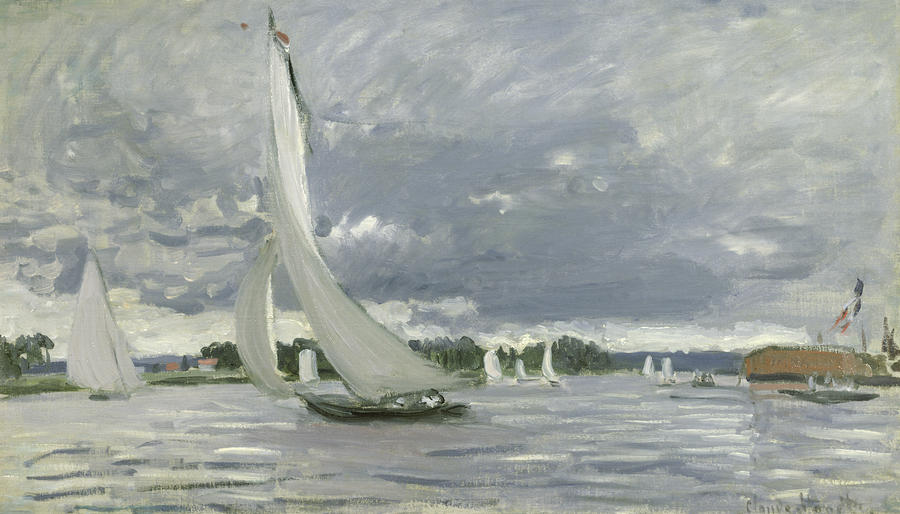 Regatta At Argenteuil Painting  - Regatta At Argenteuil Fine Art Print