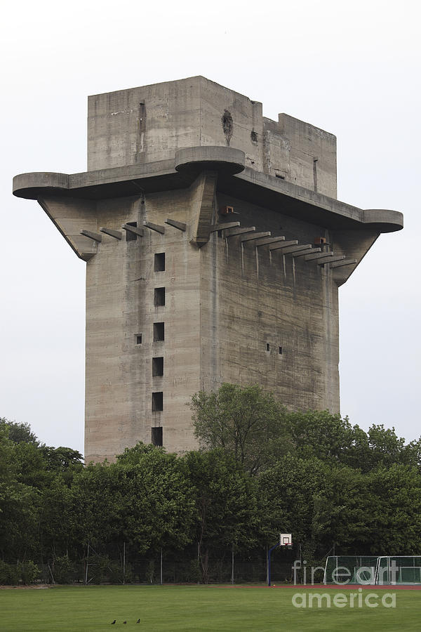 Remains Of Anti-aircraft L-tower Photograph