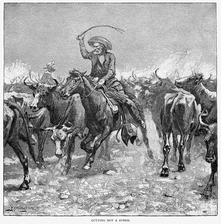 Remington: Cowboys, 1888 Photograph  - Remington: Cowboys, 1888 Fine Art Print