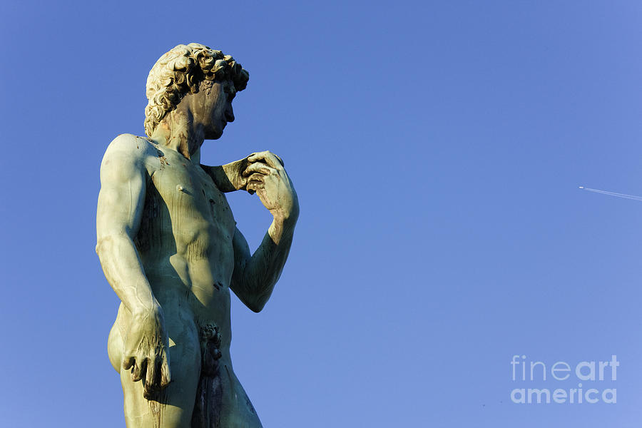 Replica Of Michelangelos David In The Piazza Michelangelo Photograph