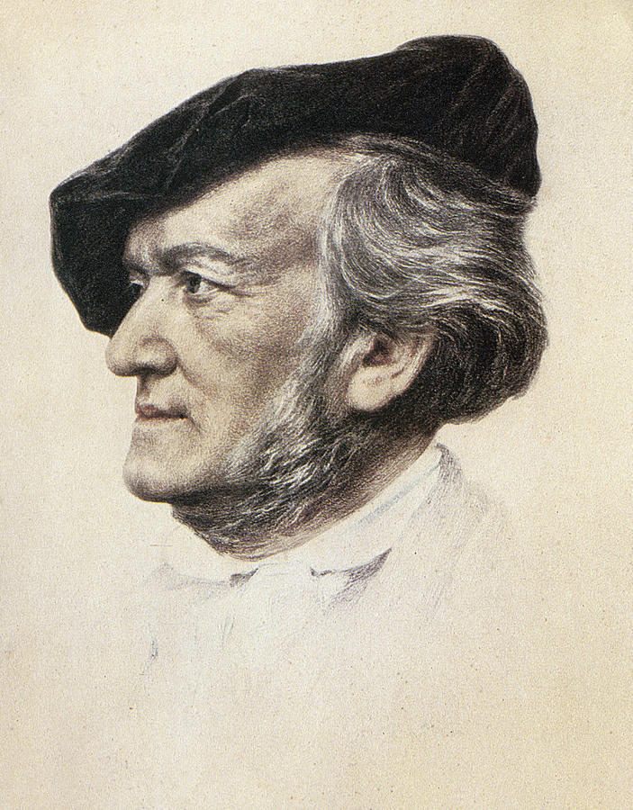 Richard Wagner (1813-1883) Photograph  - Richard Wagner (1813-1883) Fine Art Print