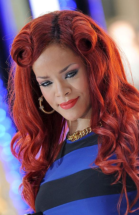 Rihanna At Talk Show Appearance For Nbc Photograph  - Rihanna At Talk Show Appearance For Nbc Fine Art Print