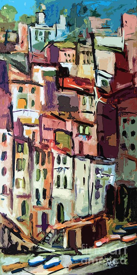 Riomaggiore Italy Cinque Terre  Painting