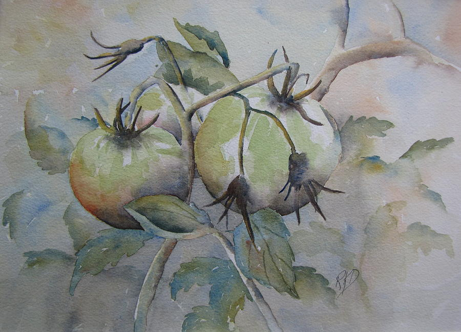 Garden Painting - Ripening On The Vine by Ramona Kraemer-Dobson