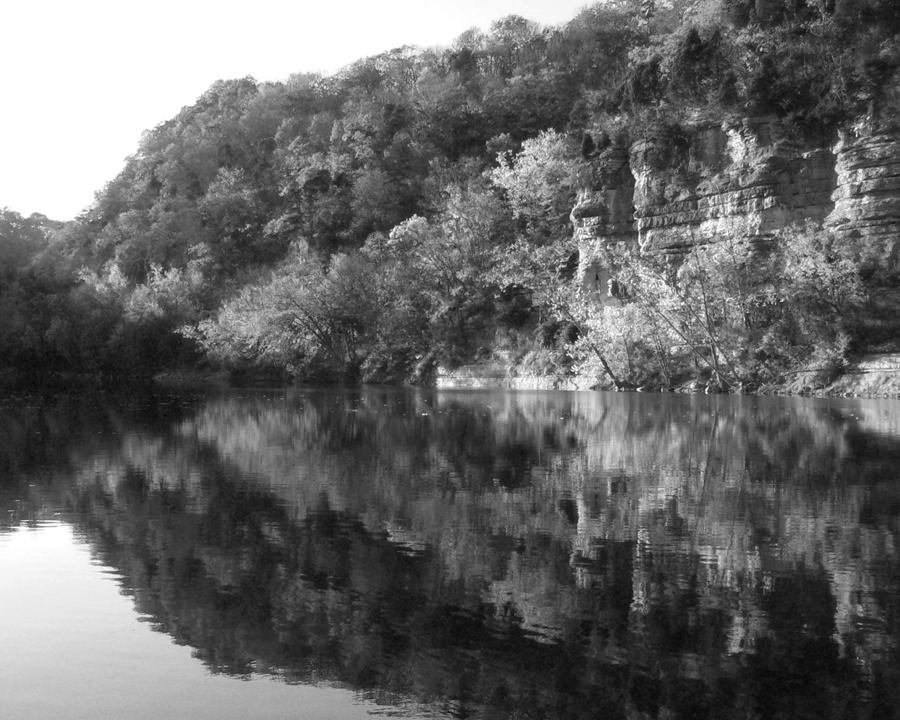 B&w Photograph - River Reflection by Paul Roger Ballard