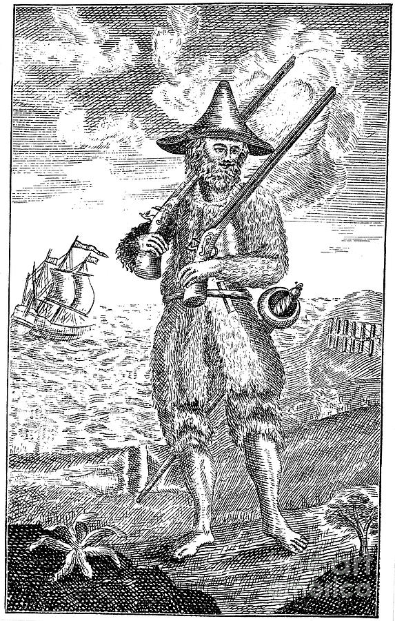 1744 Photograph - Robinson Crusoe by Granger