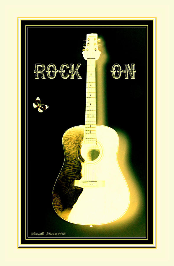 Rock On Guitar Photograph  - Rock On Guitar Fine Art Print