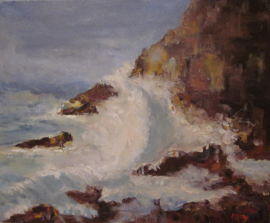 Seascape Painting - Rocky Coast by Brent Moody