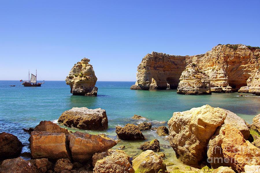 Algarve Photograph - Rocky Coast by Carlos Caetano