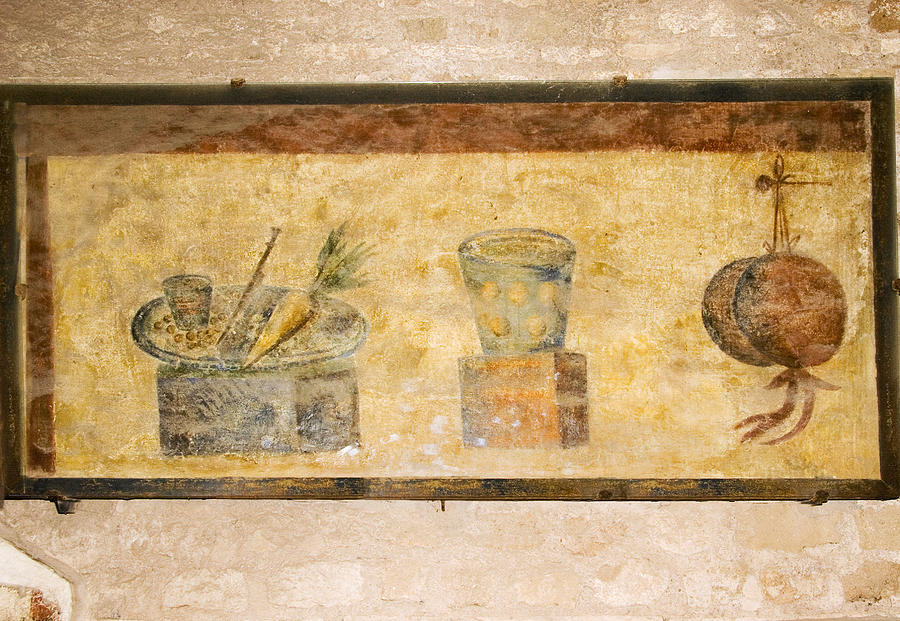 Painting Photograph - Roman Fresco, Ostia Antica by Sheila Terry