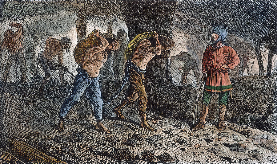 Roman Slavery: Coal Mine Photograph  - Roman Slavery: Coal Mine Fine Art Print