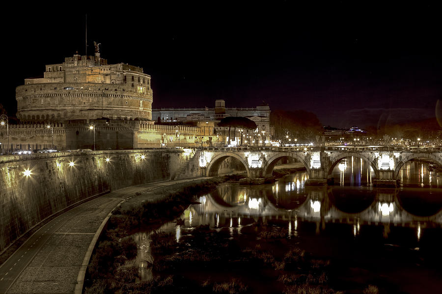 Angelo Photograph - Rome Ponte San Angelo by Joana Kruse