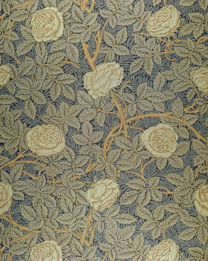 Arts Tapestry - Textile - Rose by William Morris