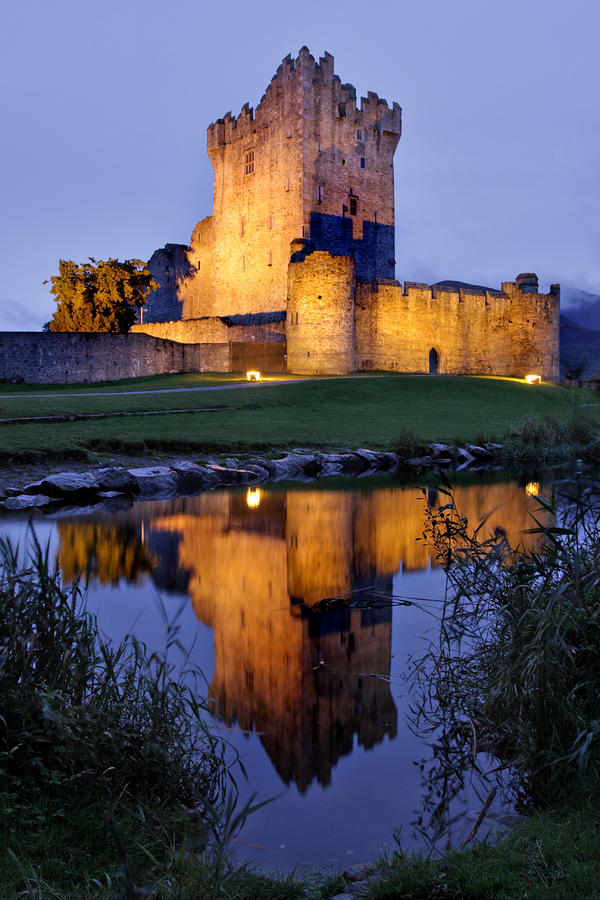 Ross Castle At Night Killarney Ireland Photograph  - Ross Castle At Night Killarney Ireland Fine Art Print