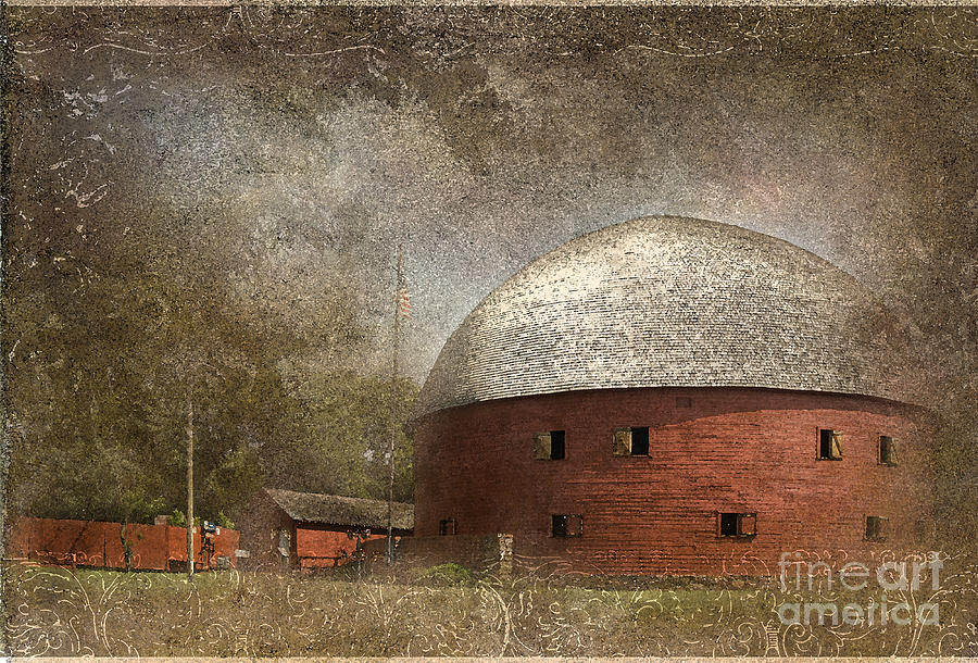 Round Barn Photograph - Route 66 Round Barn by Betty LaRue