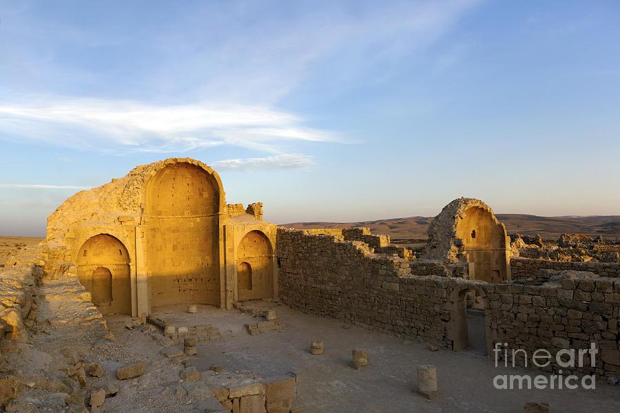 Ruins Of Shivta Byzantine Church Photograph