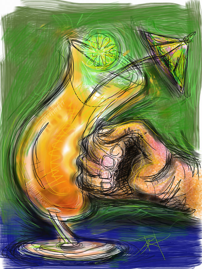 Rum Punch Digital Art  - Rum Punch Fine Art Print