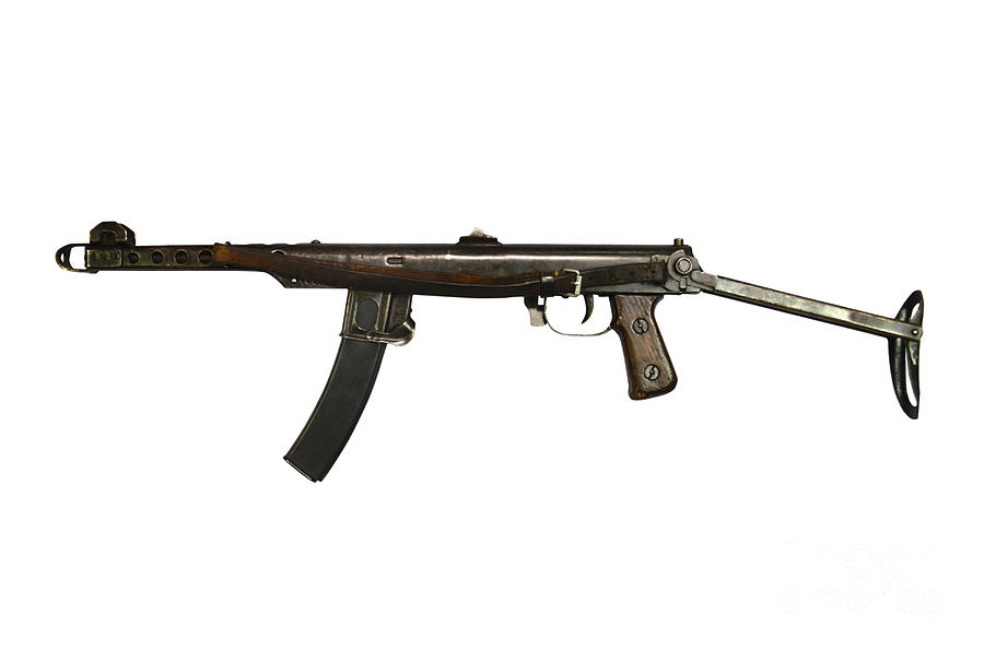 Russian Pps-43 Submachine Gun Photograph  - Russian Pps-43 Submachine Gun Fine Art Print