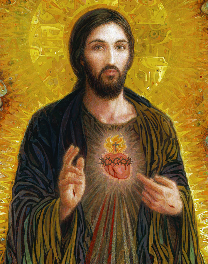 Sacred Heart Of Jesus Painting  - Sacred Heart Of Jesus Fine Art Print
